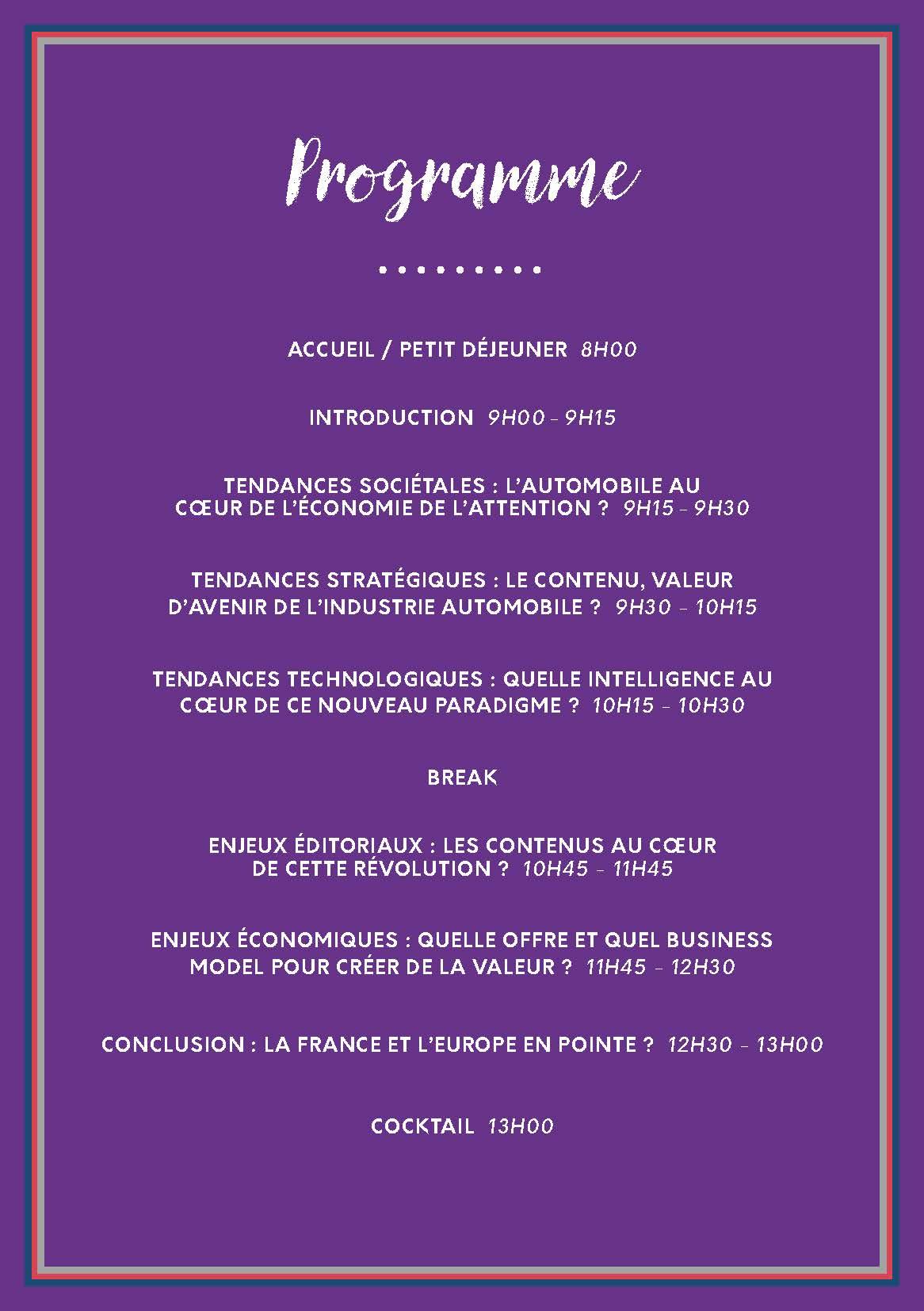 Programme FR(1)